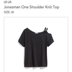 Stitch Fix one shoulder knit top sz M